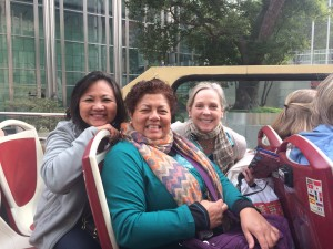 Suzanne and friends in Hong HOng