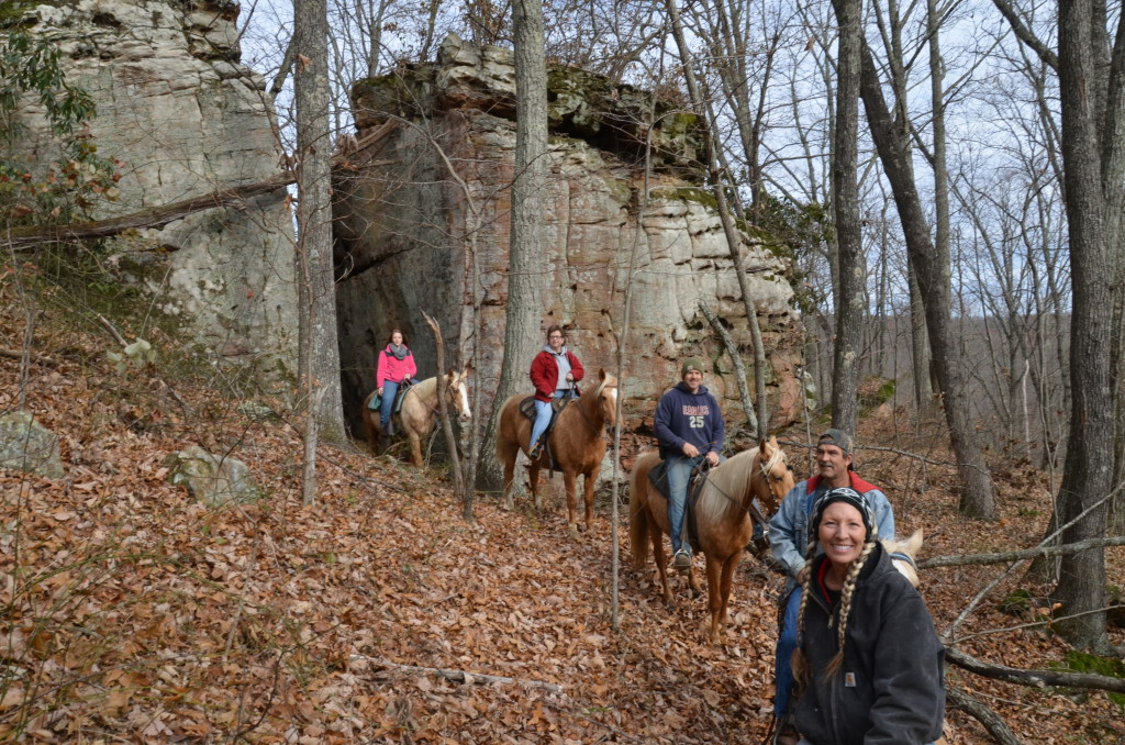 Robin on trail ride-KY 2015