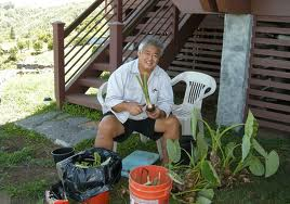 George Kahumoku in his element.