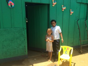 Nicaraguan children enjoy a new home financed by HABITAR. Photo by Suzanne Skees for WCCN.