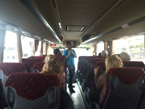 Greg leading a Telos travel group through Israel. Photo by Suzanne Skees.