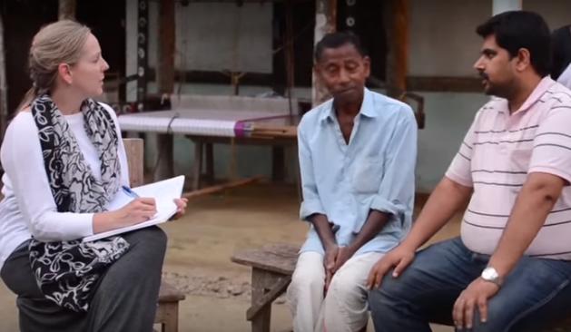Suzanne interviewing Arindam India 2014