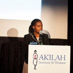 Nadine speaks at the 2015 Futures Without Violence Conference. Photo courtesy of Nadine Niyitegeka.
