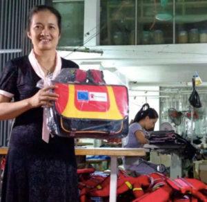 Nga, Life-Vest School-Backpack Manufacturer, Hanoi, Vietnam