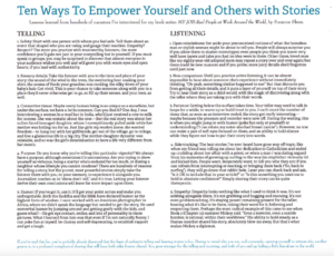 Suzanne Skees Top 10 Ways To Empower Yourself and Others with Storytelling